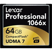 再特价:Lexar 雷克沙 Professional 1066x 64GB CF存储卡