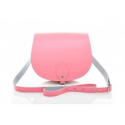 Zatchels Pastel Pink Saddle Bag 女士真皮大号马鞍包