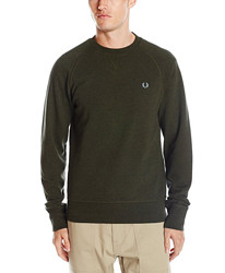FRED PERRY Cotton Crewneck 男士卫衣