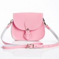 Zatchels Pastel Micro Saddle 女士斜挎包