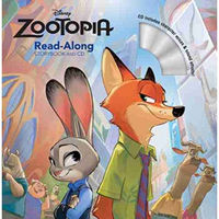 Zootopia Read-Along Storybook & CD《疯狂动物城》童书带伴读CD 英文原版