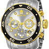 Invicta Mens Pro Diver Scuba Swiss Chronograph Silver Dial Stainless Steel Bracelet Watch 80040 $85.77(约588.12元)