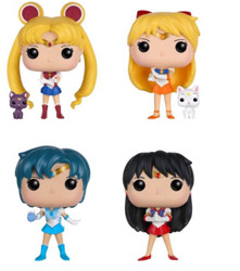 Funko POP Sailor Moon美少女战士 四战士 + 水手木星