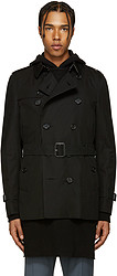 BURBERRY 博柏利 Black Sandringham Trench 男士风衣
